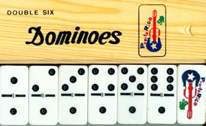 Dominoes with Puerto Rican Flag Puerto Rico