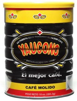 Cafe Yaucono in a Can, Yaucono Coffee in a Can, Cafe Yaucono en Lata Puerto Rico