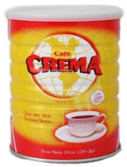 Cafe Crema in a Can, Crema Coffee in a Can Puerto Rico